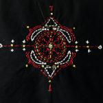 Berbera Design- Motif Iza brodé à la main-zoom motif