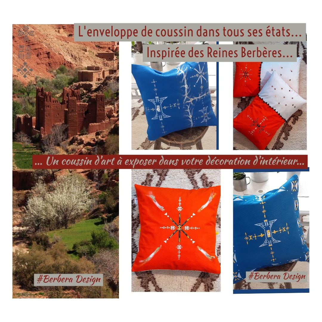 Berbera Design - housse coussin collection mille et une nuits -inspirées des reines berbères