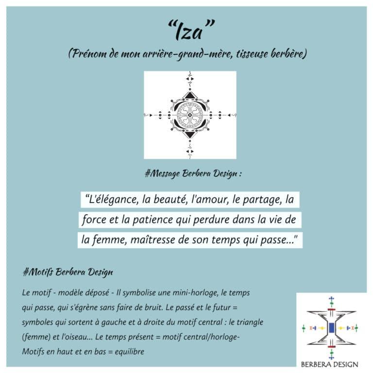 Berbera Design- Motif Iza - créé par la Créatrice