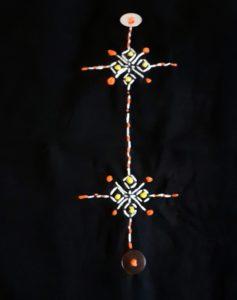Berbera Design - détail broderie du motif Tassa sur tissu noir